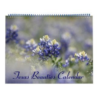 2016 Bluebonnets: Bellezas salvajes de Tejas Calendarios