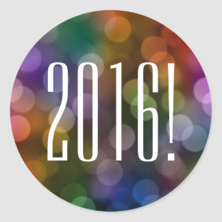 2016 bokeh classic round sticker