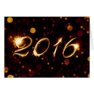 2016 (bokeh lights) card