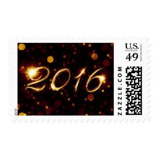 2016 (bokeh lights) postage stamp