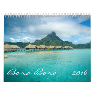 2016 Bora Bora calendar