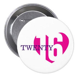 2016 botón/insignia del amor 2016 del Año Nuevo Pin Redondo De 3 Pulgadas