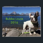 """2016 Bubba Louie Calendar<br><div class=""""desc"""">Make 2016 the best year of your life so far! Buy this calendar and travel with Bubba cross country from the BSP to the mountains to the coast. And don&#39;t miss the Bubba poem on the back. It&#39;s his best one ever! PS: All proceeds go to help doggies in need....</div>"""