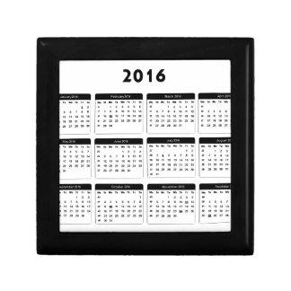 2016 Calendar2 jGibney The MUSEUM Zazzle Gifts Keepsake Box
