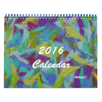 2016 Calendar Abstract Art Standard Two Page