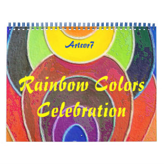 2016 Calendar Art Rainbow Colors Two Page