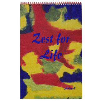 2016 Calendar  Art Zest for Life Single Page