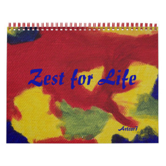 2016 Calendar Art Zest for Life Standard Two Page