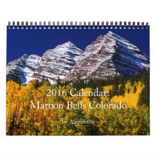 2016 Calendar: Colorado's Maroon Bells Calendar