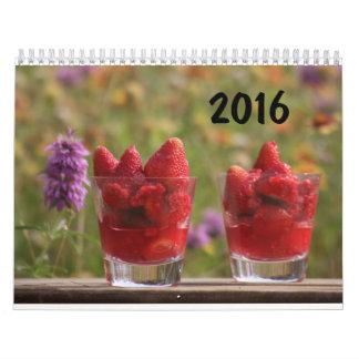 2016 Calendar - Desserts