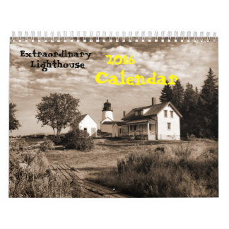 2016 Calendar- Extraordinary Lighthouse Calendar
