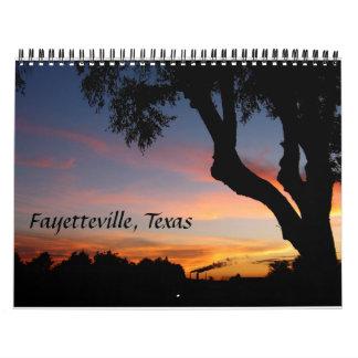 2016 Calendar - Fayetteville, Texas