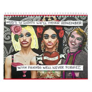 2016 calendar FILLED WITH BAD GIRL ART