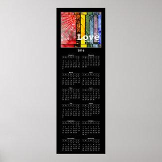 2016 Calendar Nature Rainbow LGBT Pride Symbol Poster