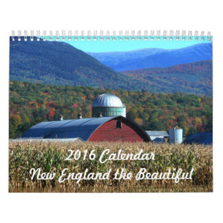 2016 Calendar  New England the Beautiful