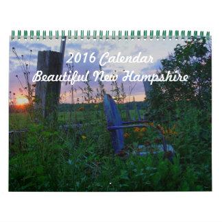 2016 Calendar - New Hampshire