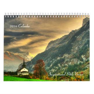 2016 Calendar of Inspirational Bible Verses