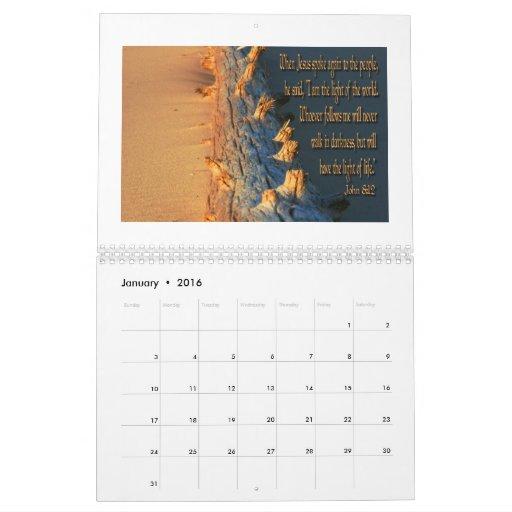 Calendar Inspirational 2016 : Calendar of inspirational bible verses zazzle
