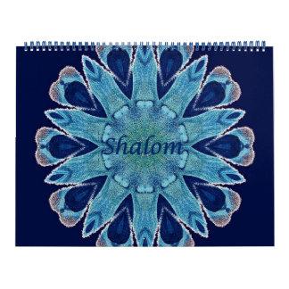 2016 Calendar Shalom Blue Hearts Huge Two Page