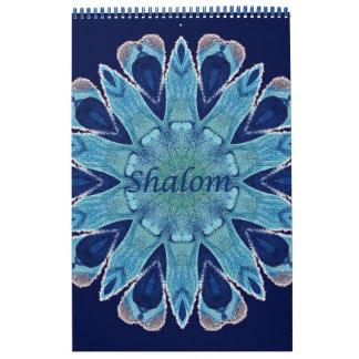 2016 Calendar Shalom Blue Hearts Single Page