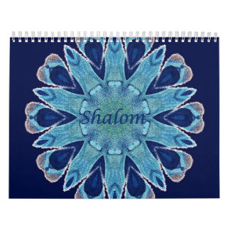 2016 Calendar Shalom Blue Hearts Standard 2 Page