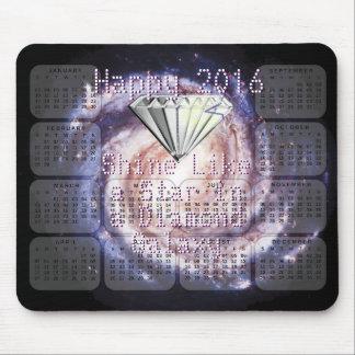 2016 Calendar Shine Like a Star Diamond Galaxy Mouse Pad