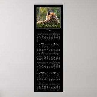 2016 Calendar Tiger Confidence Quote Custom Poster