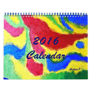 2016 Calendar Vibrant Abstract Art Standard 2 Page