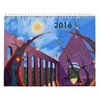 2016 Calendar with Mystical Landscape Paintings