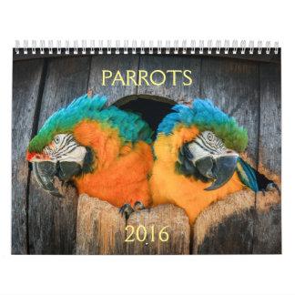 2016 calendario de loros, macaw, el Amazonas,