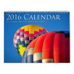 2016 calendario, fotografía de la bella arte de calendarios
