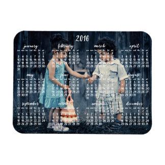 2016 calendario magnético personalizado 3x4 imán rectangular