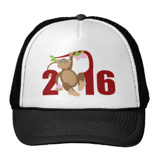 2016 Chinese Monkey on Tree with Longevity Fruits Trucker Hat