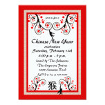 2016 Chinese New Year Monkey and Tree Invitation