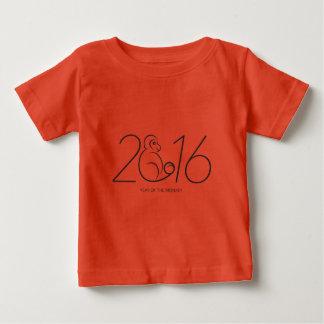2016 Chinese New Year Monkey Numerals Line Art Baby T-Shirt