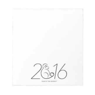 2016 Chinese New Year Monkey Numerals Line Art Note Pads