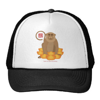 2016 Chinese Year of the Monkey with Gold Bars Trucker Hat