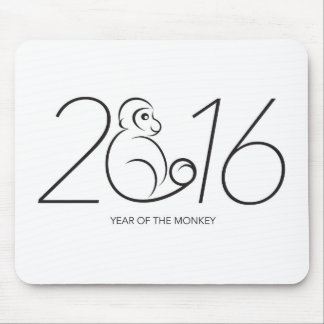 2016 Chinese Zodiac Monkey Line Art Drawing Mouse Pad
