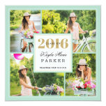 2016 Classy Photo Collage Graduation Invitation