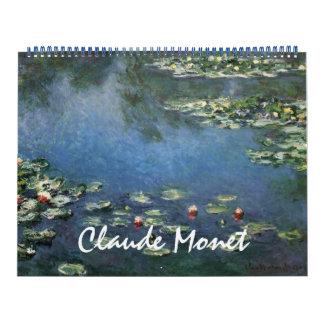 2016 Claude Monet, Vintage Impressionism Art Calendar