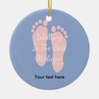 2016 Color Of The Year Insprational Quote Walking Ceramic Ornament