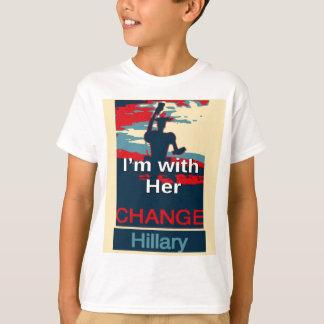 2016 colorido estoy con su voto para Hillary los Camisas