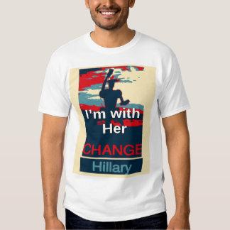 2016 colorido estoy con su voto para Hillary los Playeras