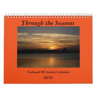2016 con las estaciones Caldendar Calendario