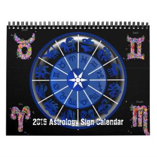 2016 Confetti Astrology Sign Wall Calendar