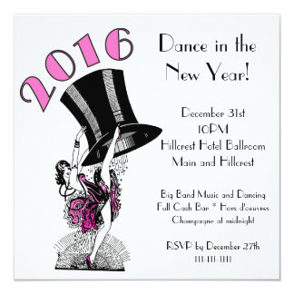 2016 Deco Dancing Girl and Top Hat Card