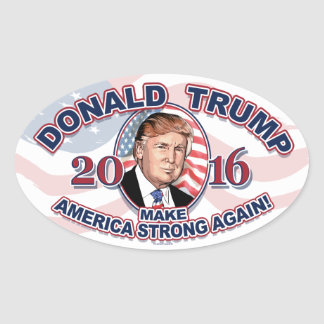 2016 Donald J. Trump Make America Strong Oval Sticker