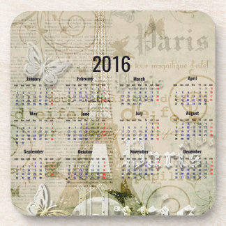2016 Eiffel Tower Paris New Year Gifts Drink Coasters
