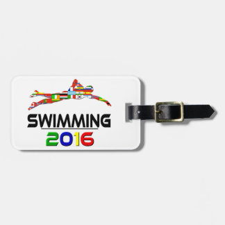 2016: El nadar Etiquetas De Maletas