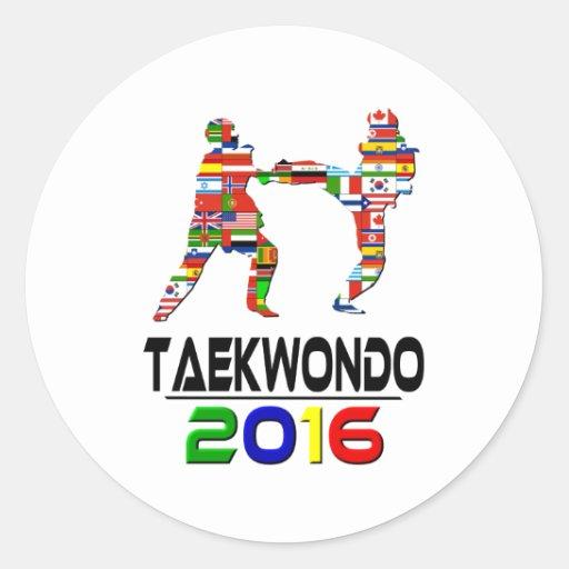2016: El Taekwondo Pegatina Redonda